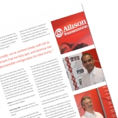 Allison Transmission Editorial Double Page Spread